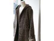 縫い代付き印刷済み型紙  フード付きコート、ハーフ丈 340