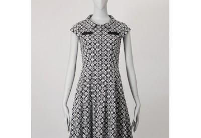 縫い代付き印刷済み型紙 8Argo フラットカラー、タックスカートシャツワンピース