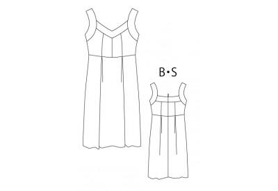 PDF型紙  ストラップドレス Brigitte~ブリジット