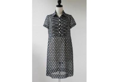縫い代付き印刷済み型紙 ピンタック半袖シャツワンピース Felicia~フェリシア (オプション七分袖含む)