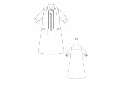 PDF型紙  プラケットシャツワンピース Luna~ルナ