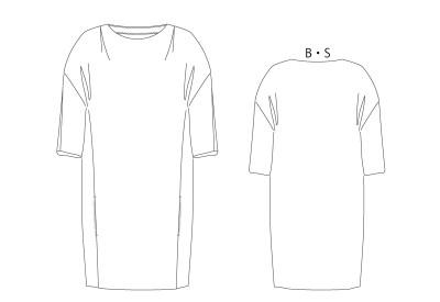 PDF型紙 バレルライン、ドルマンカットソーワンピ 8Ringo~リンゴ