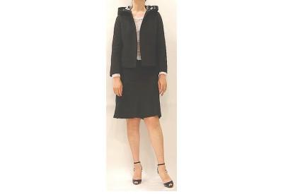 縫い代付き印刷済み型紙 フーデッドショート丈ジャケット~279