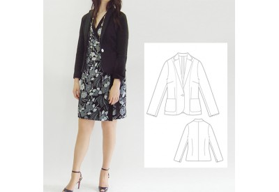 縫い代付き印刷済み型紙 カットソーテーラードジャケット~2852