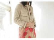 縫い代付き印刷済み型紙 クルーネックノーカラージャケット Julie~ジュリー