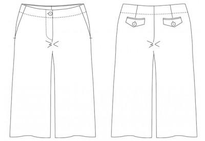 PDF型紙 4つポケットハーフパンツ  Cecil ~セシル