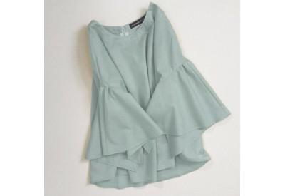 企画サンプル(服)6Shona コットン、ブルーグリーン38サイズ