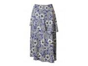 縫い代付き印刷済み型紙  前2段フレアー、セミロングスカート 9Lovely