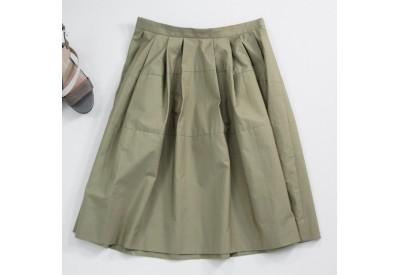 縫い代付き印刷済み型紙  変形タックティアードスカート 9Pluie