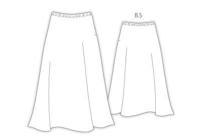PDF型紙 LR90052 ~ロングフレアー、ゴムスカート