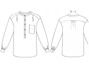 PDF型紙  ヘンリーネックオーバーシャツ 6Cammile