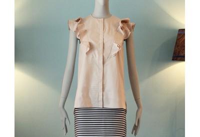 縫い代付き印刷済み型紙   6Elan 袖ぐり&ヨーク ラッフルブラウス(6Elan_LSセット)
