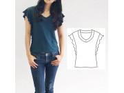 PDF型紙 ラッフルTシャツ 7Frair