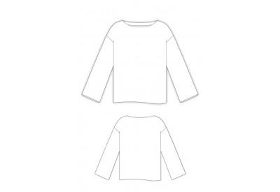 縫い代付き印刷済み型紙 LR70057 ~ドロップショルダーのレイヤープルオーバー
