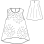 縫い代付印刷済み型紙  布帛&カット ピコットのエジング付き  タンクトップ(yum)