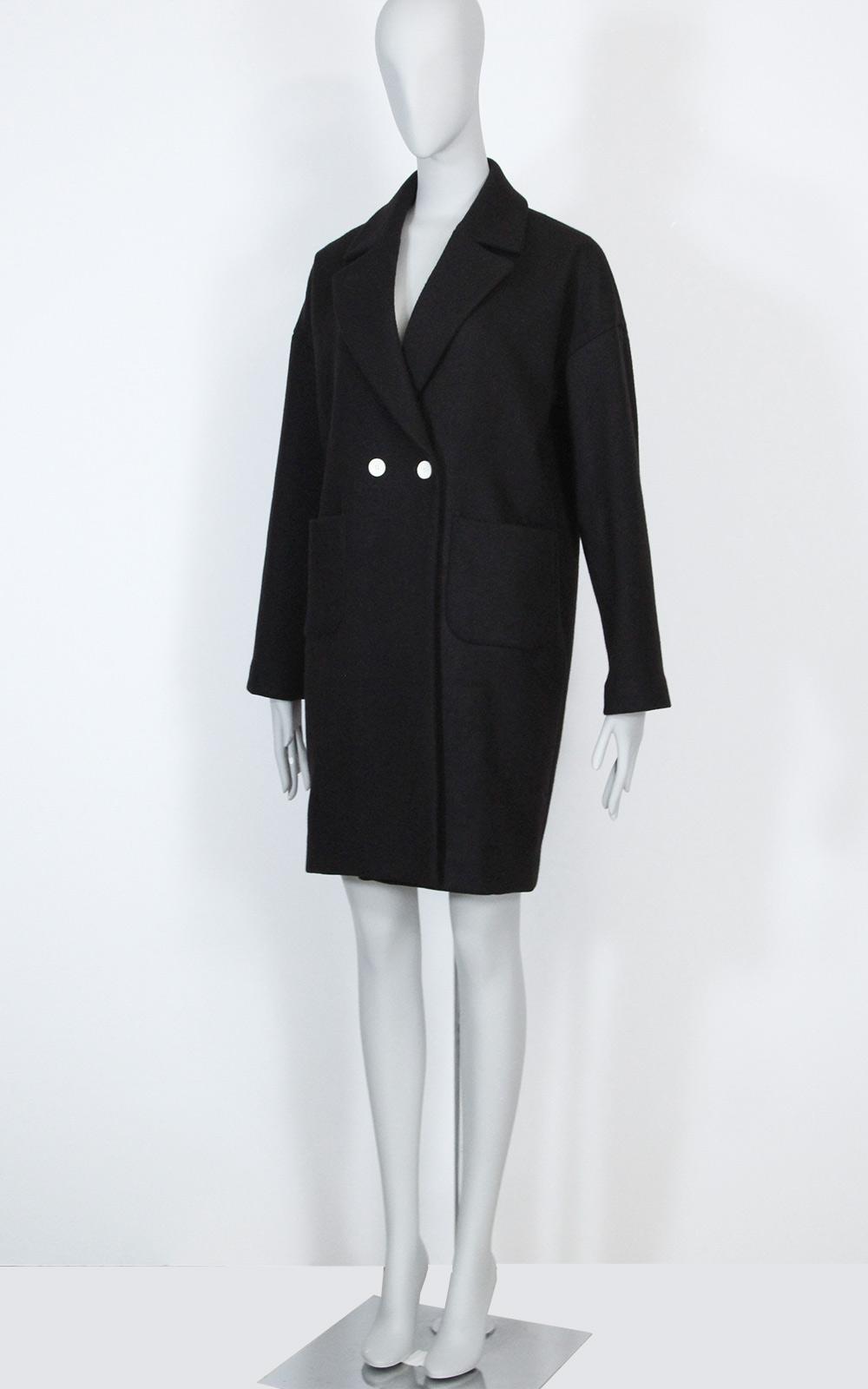 洋裁型紙 ドロップショルダー ダブルブレスト コート