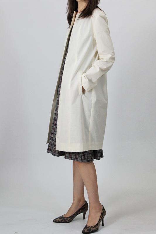 3Lorie ドロップショルダー コート 襟なし 型紙通販