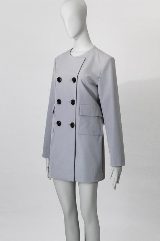 3Rudale ドロップショルダー 衿なし ハーフコート 型紙通販