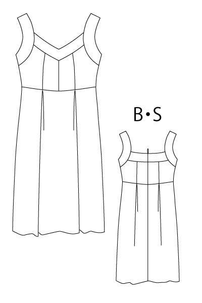 型紙通販 ストラップドレス
