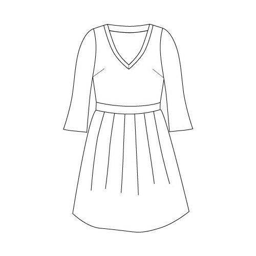PDF型紙 Vネックカットソーワンピース Camochi~カモッチ