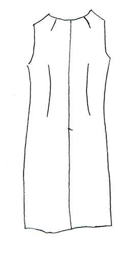 8LeGrooth ル・グルース ノースリーブシフトワンピース 型紙通販