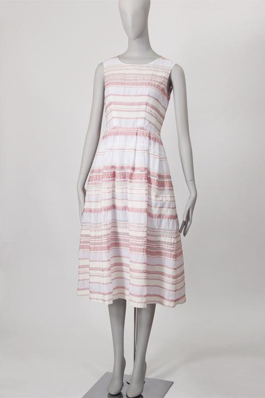 Sisbon ノースリーブミディ丈タックドレス ワンピース 型紙通販 立体裁断