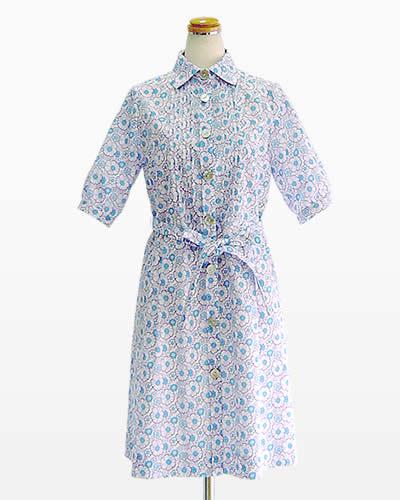 型紙通販 ラフに着こなしやすいシャツカラーワンピース