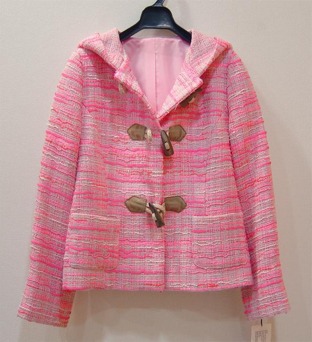 型紙通販、フーデッドショート丈ジャケット