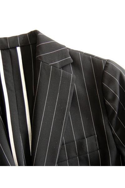 型紙通販、七分袖細身 テーラードジャケット