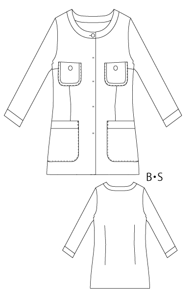 型紙通販 ニット ロングカーディガン ジャケット