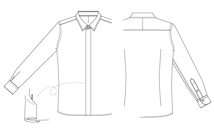 型紙通販 メンズシャツ ダウンロード型紙 立体裁断