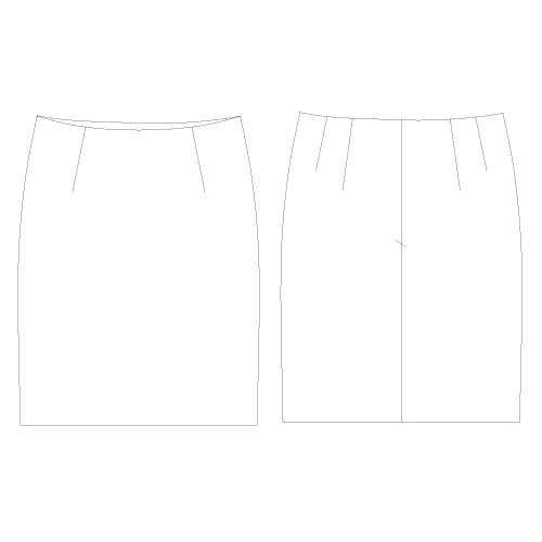 型紙通販 ベルトレスストレートスカート