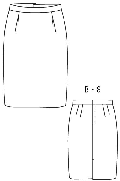 型紙通販 セミタイトライン、インタックスカート