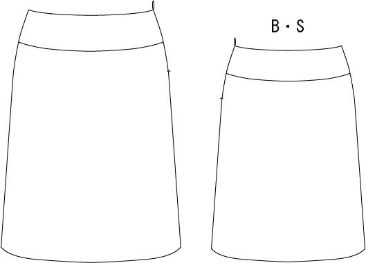 型紙通販 台形セミフレアースカート
