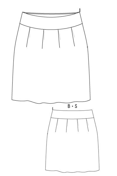 型紙通販 ヨーク切り替え、コクーンスカート