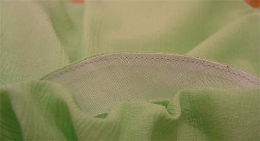 型紙通販、衿ぐりギャザーブラウス 585d