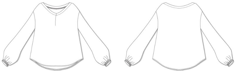 8Bridget ボックスプリーツ半袖付きワンピース 型紙通販 立体裁断