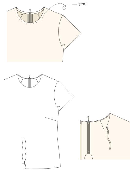 型紙通販  PDF型紙 シンプルなクルーネックインナーブラウス  6Sissil