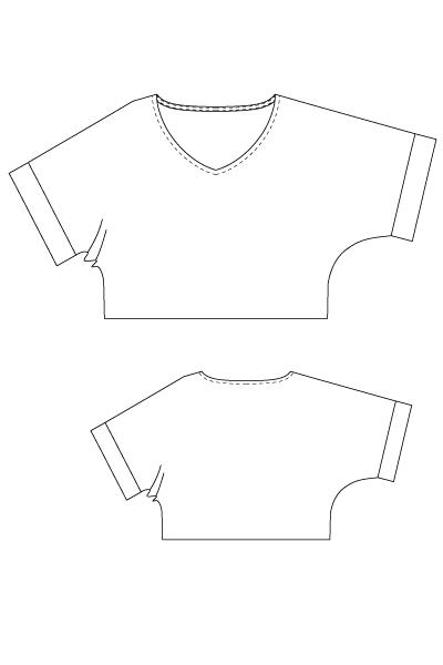 洋裁型紙 パターン ドルマン ショート プルオーバー