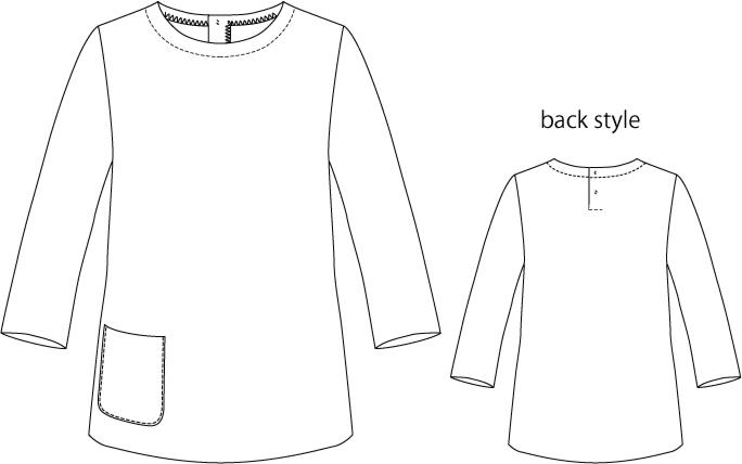洋裁型紙 クルーネックセーター