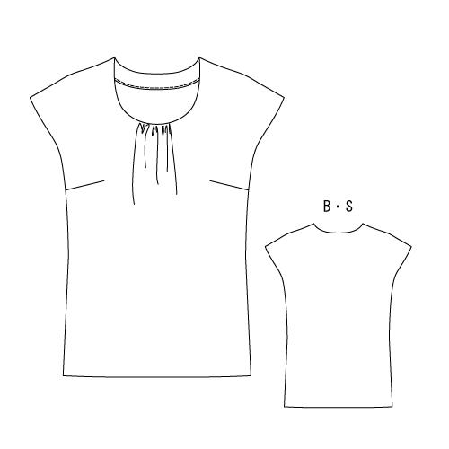 洋裁型紙 フレンチスリーブTシャツ