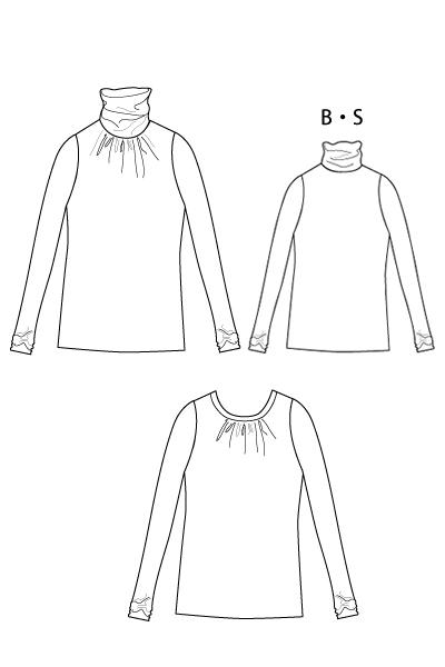 洋裁型紙 エレガントタートルプルオーバー(オプション付き)