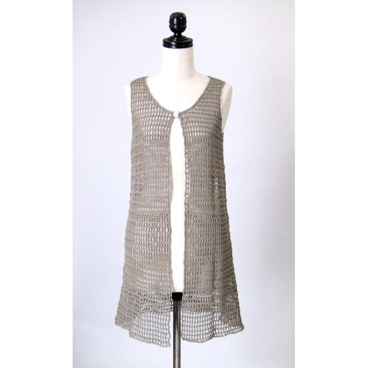 ニットベスト 手編み