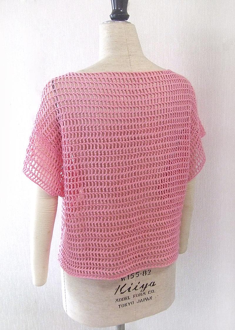 手編み,プルオーバー,K61002,後