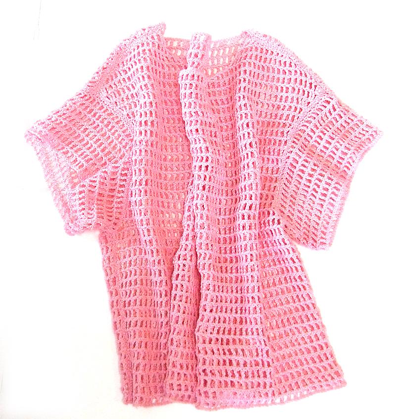 手編み,プルオーバー,K61002,平置き