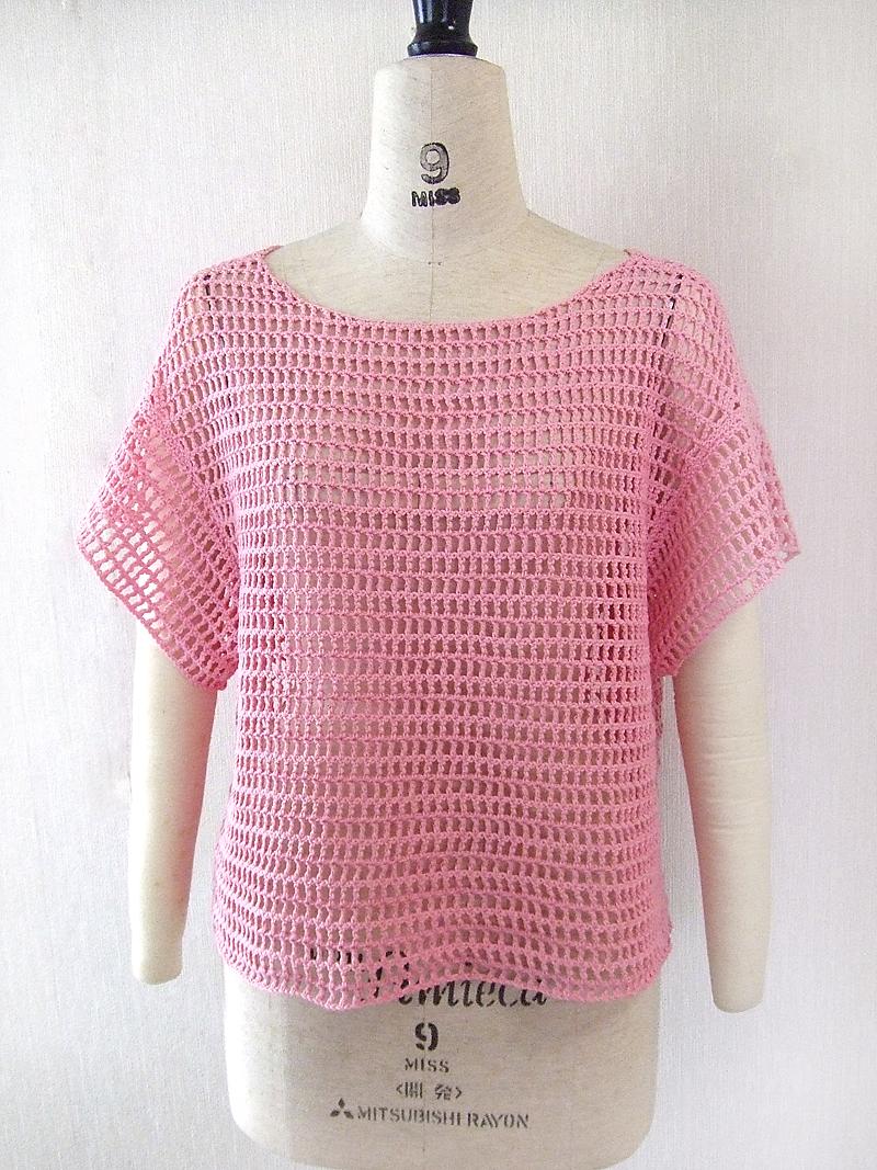手編み,プルオーバー,K61002,前