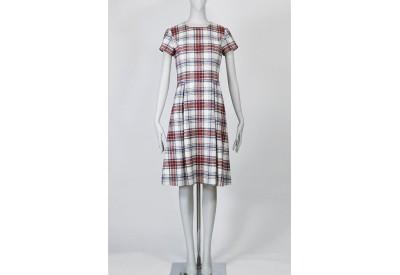 縫い代付き印刷済み型紙   8Bridget ボックスプリーツ半袖付きワンピース