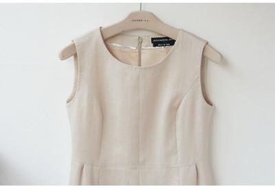 PDF型紙 衿なしノースリーブワンピース Charleen ~シャーリーン