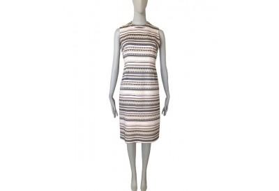 縫い代付き印刷済み型紙  8Ley 衿付きシフトドレス