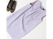 縫い代付き印刷済み型紙 8Macaroonマカロン/ タックドレープドレス